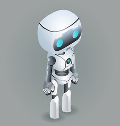 isometric robot innovation technology science vector image