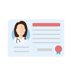 license doctor woman vector image