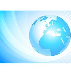 Light blue globe vector