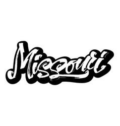 missouri sticker modern calligraphy hand vector image