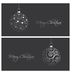 Modern and elegant christmas card backgrounds vector
