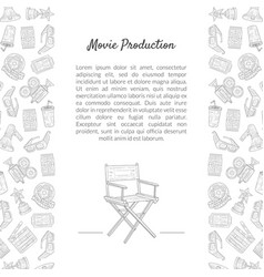 movie production banner template with place for vector image