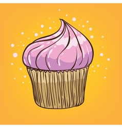 muffin cartoon vector image
