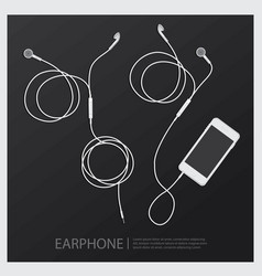 music earphones with telephone vector image