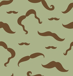 Mustaches seamless pattern vector image