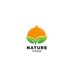 Nature food logo design vector