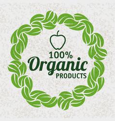 Organic product design vector