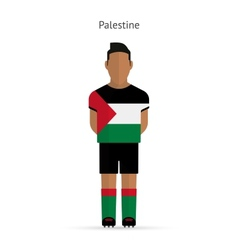 Palestine football player Soccer uniform vector