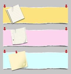 paper banner set vector image