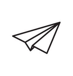 paper plane thin line icon airplane jet fly vector image