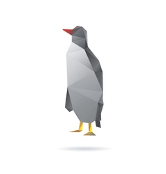 Penguin abstract isolated on a white backgrounds vector image