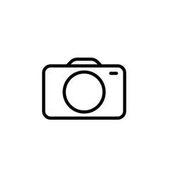 photo camera line icon black on white background vector image