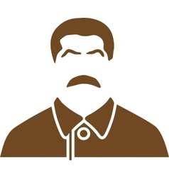 portrait of Joseph Stalin vector image