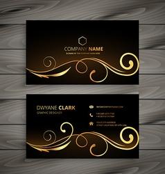 premium floral business card vector image