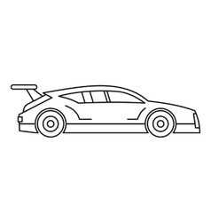 Racing car icon outline style vector