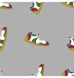 Ranning Shoes Seamless Pattern vector image