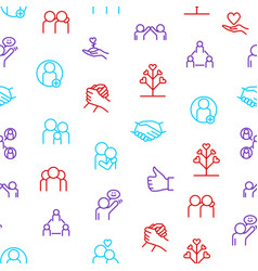 relations and emotions thin line seamless pattern vector image