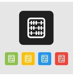 Retro old abacus icon Colored abacus icon in vector