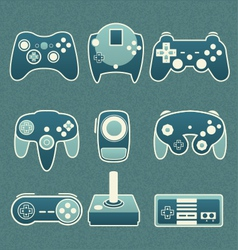 Retro Video Game Remote Controls vector