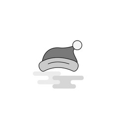 santa clause cap web icon flat line filled gray vector image