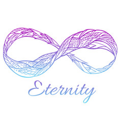Sign eternity with a boho pattern and col vector