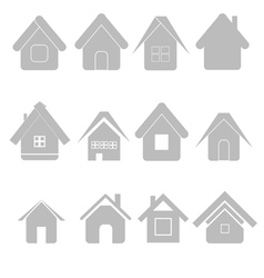silhouettes house set vector image