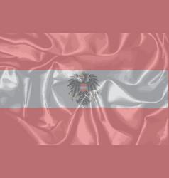 Silk austrian flag and coat of arms vector