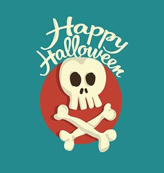 Skull and bones Halloween vector