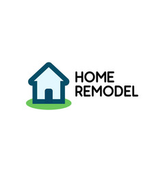 stylish logo for house repair business vector image