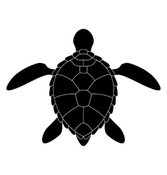 Stylized silhouette of a turtle vector image