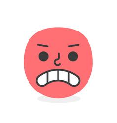 trendy unhappy emoji smile eps10 vector image