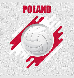 volleyball poland background vector image