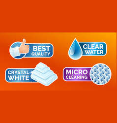 washing clothes stickers set stickers - micro vector image