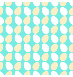 White cream egg seamless pattern vector