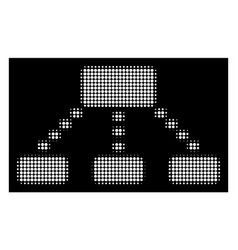 White halftone dotted scheme icon vector