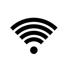 Wi-fi signal wi fi internet hotspot icon vector
