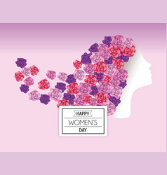 woman with roses hair to celebrate international vector image