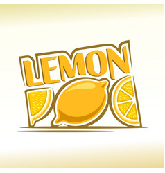 abstract lemon vector image vector image