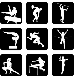 athletic sport icons vector image