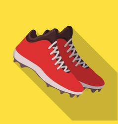 baseball sneakers baseball single icon in flat vector image