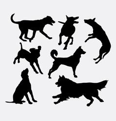 Dog pet animal silhouette 19 vector image