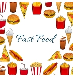 Fast food meal poster vector image