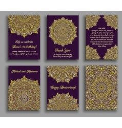 Greeting Cards Golden Luxury vector image vector image