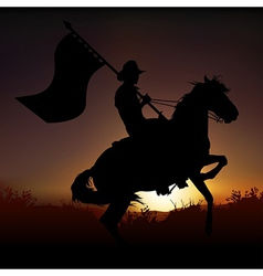 Horse and Horseman vector image vector image