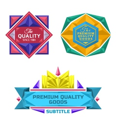 set of retro badge jewel labels and logo vector image vector image