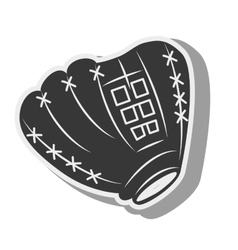 silhouette glove baseball icon isolated vector image vector image