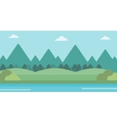 Background of landscape with mountains and river vector image