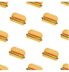 burger seamless pattern vector image vector image