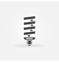 CFL light bulb icon vector image