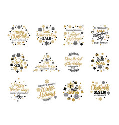 christmas and valentine s sale banner templates vector image vector image
